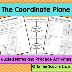 plotting points in 4 quadrants guided note