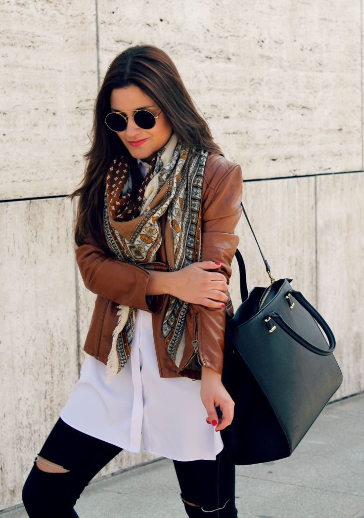 brown leather jacket style guide